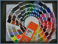 Professional Powder Coating color wheel