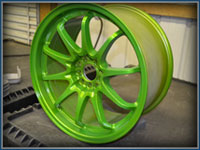 Powder Coated Wheels from Professional Powder Coating!